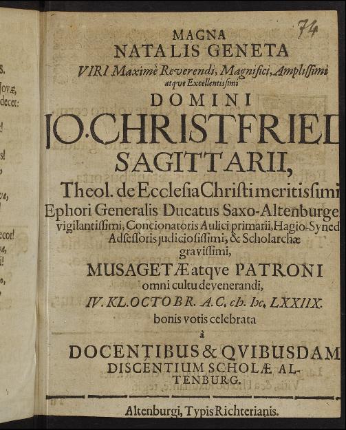 Datierung eines Sagittarius